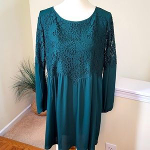 Chelsa28 Bell Sleeve Lace-Top Dress